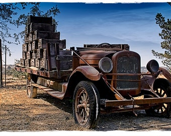 Old Wine Delivery Truck
