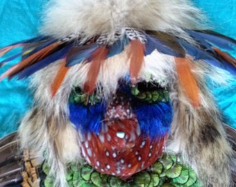 Tribal Feather Mask