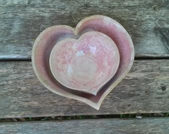 Set of 2 Nesting Hansen Heart Bowls