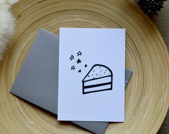 10, 5 X 14, 7 CM - CAKE birthday card