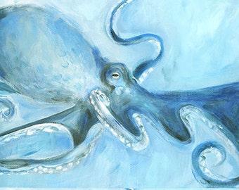 Always an Octopus: Fine art giclee of original acrylic painting