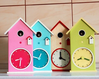 Cottage Clock, Cuckoo Clock,Country Clock, Bungalow Clock, Arts and Crafts Clock, Child Clock, Desk Clock