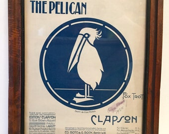 After WWI 1920's sheet music The Pelican Fox Trot Clapson