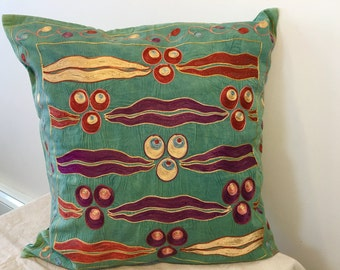Pair of Uzbek suzani pillows cover # 22 - # 23