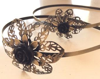Aged vintage headband