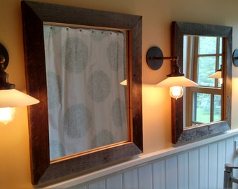 Rustic Wood Mirrors
