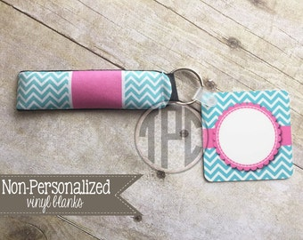 Vinyl Blank - key chain with matching wristlet - Personalize with Vinyl - 002