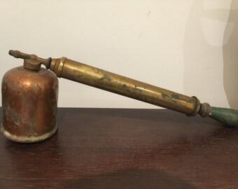 Vintage 1930's industrial Rega brass & copper fly spray pump