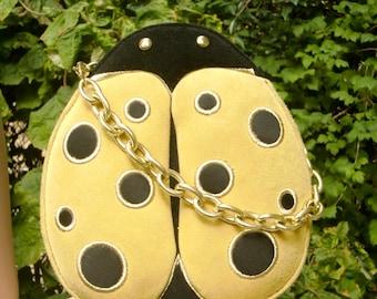 LULU GUINNESS Ladybug Suede Purse