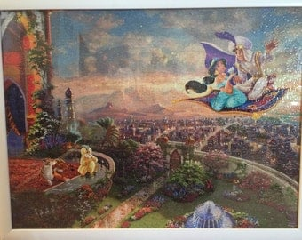 Aladdin thomas kincade picture 17' by 27' in white frame