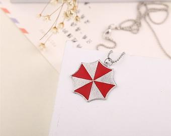 Umbrella Corporation Necklace Pendant Zombie Chain