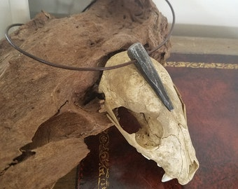 Rust Wolf's Tooth pendant necklace Hand Forged