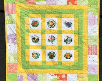 Peek-A-Boo Baby Animal Quilt