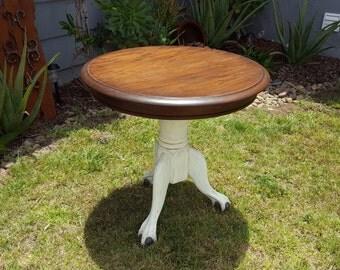 Vintage Refurbished Clawfoot Side Table