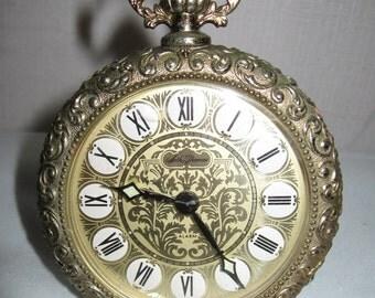 Vintage Seth Thomas Alarm Clock In A Pocket Watch Design