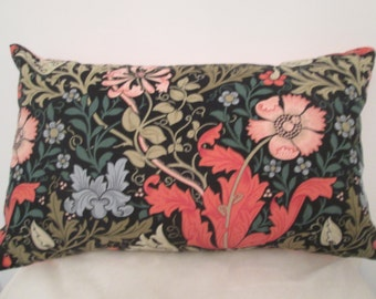 William Morris Compton fabric designed cushion with pad.