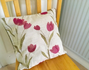 Tulip print cushion