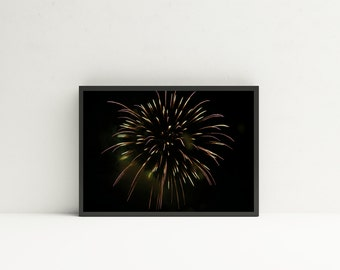 Firework Photography Print- Firework Art, Firework Prints, Fireworks, Summer Art, 4th of July, America Art, Summer Decor, Lakehouse Decor