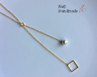 Square Y necklace