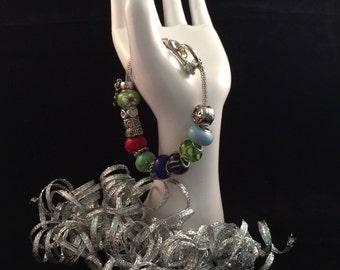 Multicolor Pandora Style Charm Bracelet