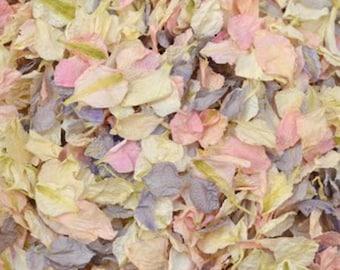 Natural Biodegradeable Delphinium Petals Wedding Throwing Confetti  - Vintage Daydream