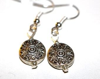 Silver Medallion Earrings