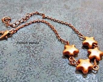 Copper star Bangle