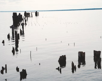 old docks on lake superior, Upper Peninsula, Michigan
