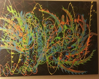 Abstract Acrylic on Canvas