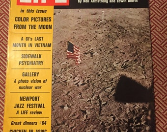 Life Magazine On the Moon August 8, 1969