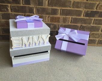 Baby Shower Card Box And Advice Box Set