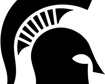Michigan state university spartans logo by freshcutcustomvinyl for Michigan state university coloring pages