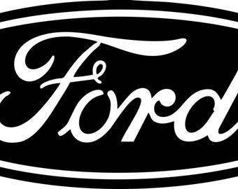 Ford logo emblem vinyl yeti/car/window/laptop/etc. decal/sticker