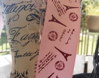 1 and 1/2 inch pink paris ribbon
