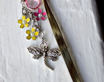 Dragonfly and Flowers Book Bling