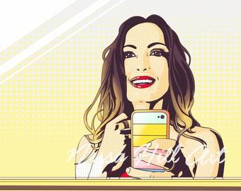 Portrait Pop Art single