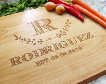 Personalized Cutting Board - Engraved Cutting Board, Custom Cutting Board, Wedding Gift, Housewarming Gift, Anniversary Gift W-036 GB