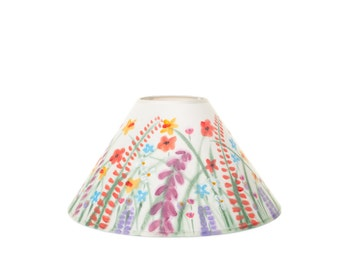 Handpainted Lampshade - Wildflower Design, Coolie, Flower, Floral, home decor, lamp, lighting