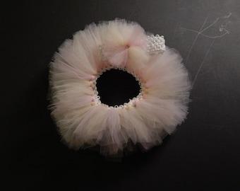 Infant Tutu with headband-Pink Pastel