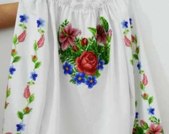 Embroidery beads for the entire family-Womens embroidered shirt