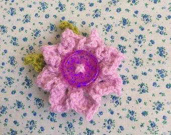 Flower Button Brooch