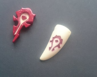 World of warcraft HORDE earrings