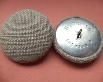 Fabric buttons 4 PONYTAIL beige 33 mm (540)