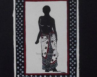 Woman in kanga