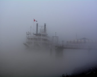 The Steamboat Natchez in the Fog