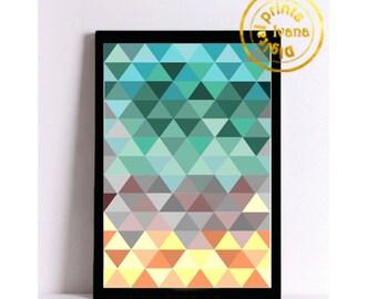 Printable art Digital Prints modern colorful geometrick wall art printable art, printable prints