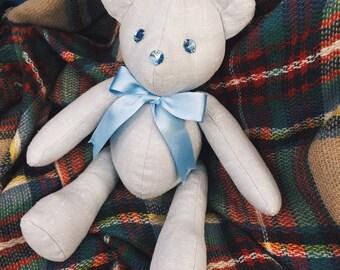 Light blue linen Michelle bear
