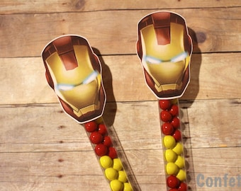 Iron Man Candy Wands-Set of 12