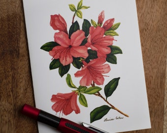 Azalea Notecards by Widely Acclaimed Artist Louise Estes