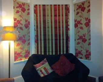 Upcycle your old curtains..moving house..SAVE MONEY made to measure Roman Blinds